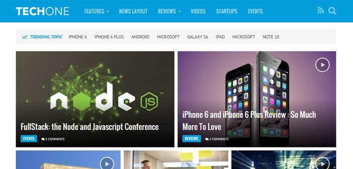 Techone – A Modern Magazine WordPress Theme
