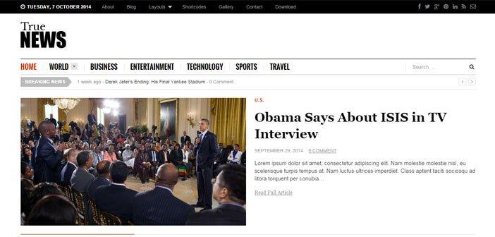 TrueNews – A Smart and Gorgeous Magazine WordPress Theme