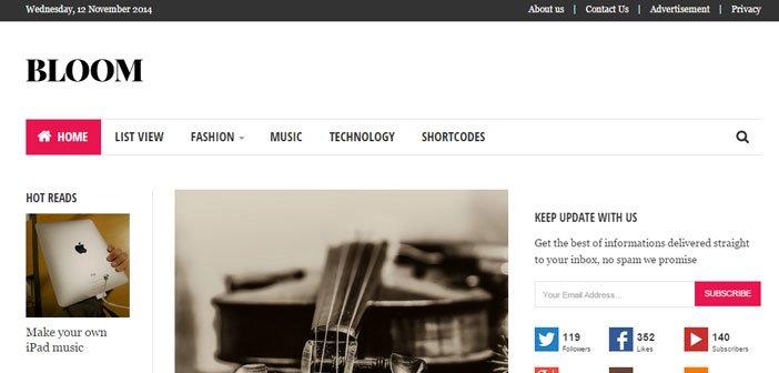 Bloom – A Sleek Blog / Magazine WordPress Theme