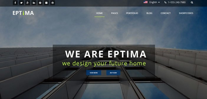 Eptima – A Responsive Corporate WordPress Theme