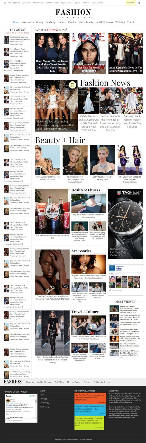 FashionForward Magazine WordPress Theme