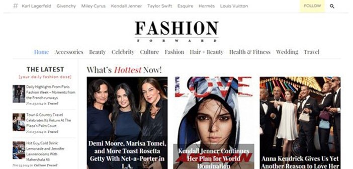 FashionForward – A Modern Fashion WordPress Magazine Theme