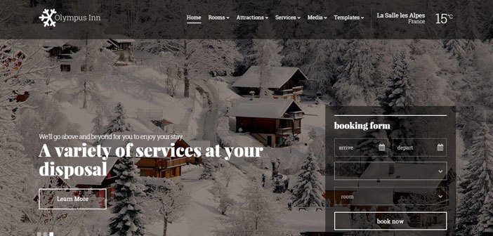 Olympus Inn – A Beautiful Hotel WordPress Theme