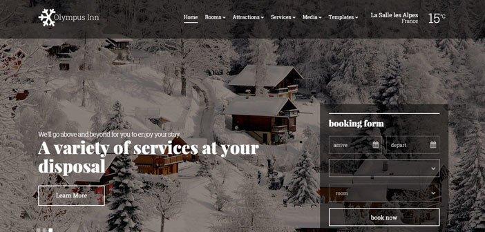 Olympus Inn – A Beautiful Hotel WordPress Theme