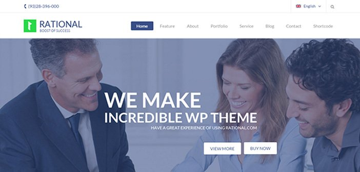 Rational – Impressive Onepage Business WordPress Theme