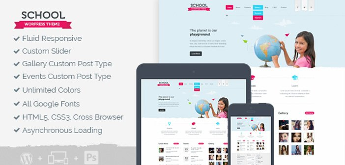 School – A Responsive Educational WordPress Theme