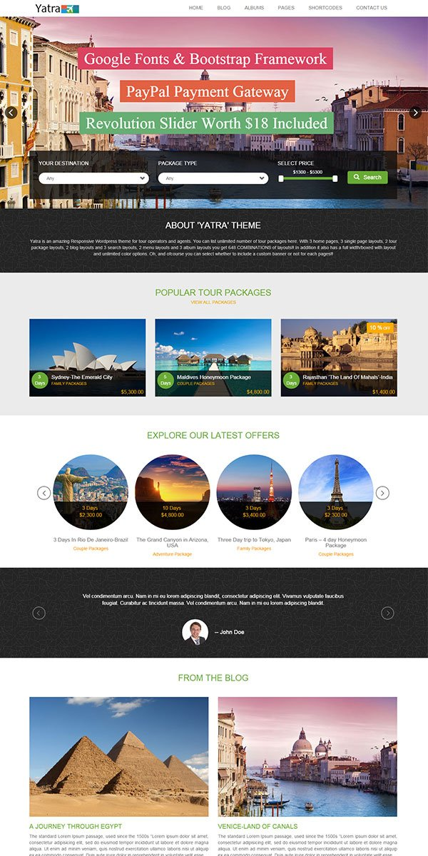 Yatra WordPress Theme