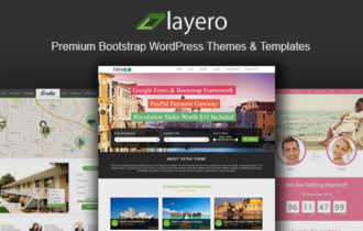 Layero – Premium Bootstrap WordPress Themes