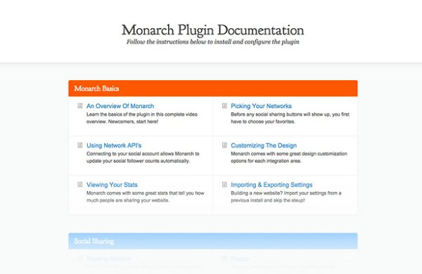 monarch documentation