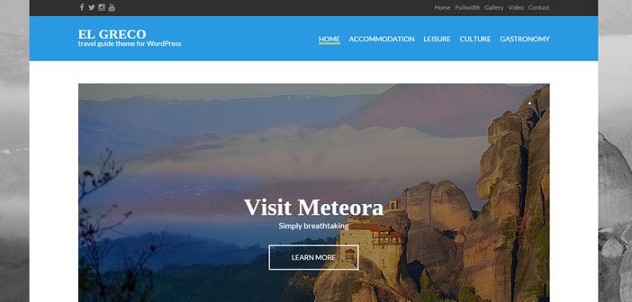 El Greco –  A Beautiful Travel WordPress theme