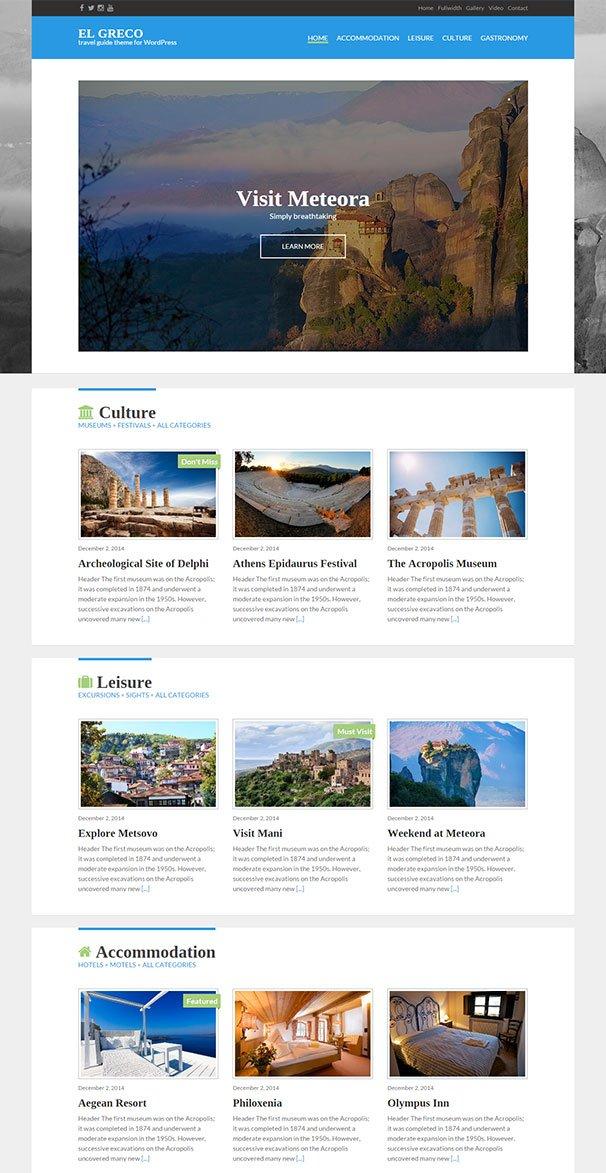 El Greco WordPress Theme