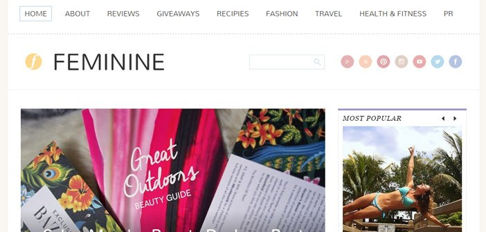 Feminine – A Creative Blogging WordPress Theme