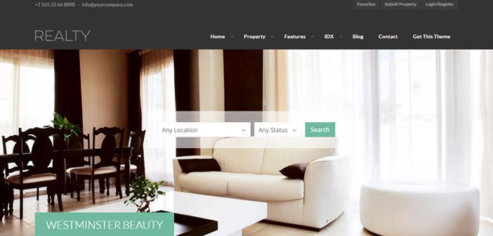 Realty – A Clean and Creative Real Estate WordPress Theme
