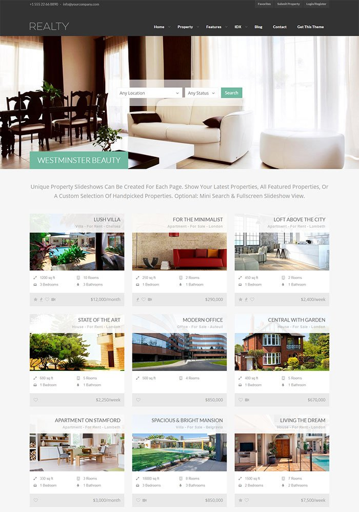 Reality WordPress Theme