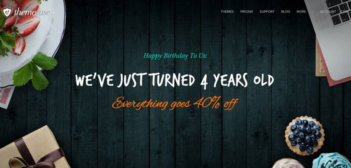 Birthday Sale By ThemeFuse : 40% Off on Everything