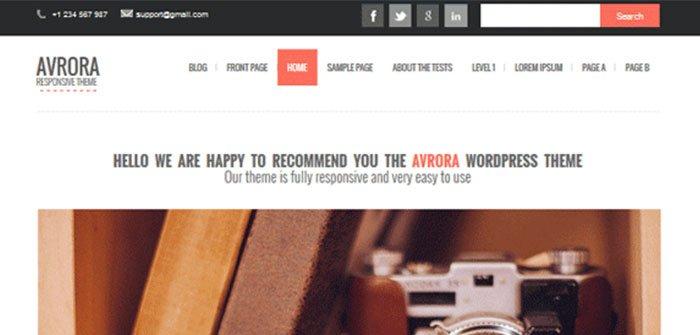 Avrora WordPress Theme