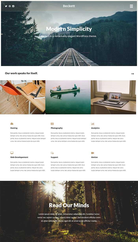 Beckett WordPress Theme