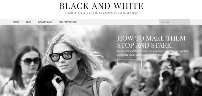 Black & White Magazine WordPress Theme