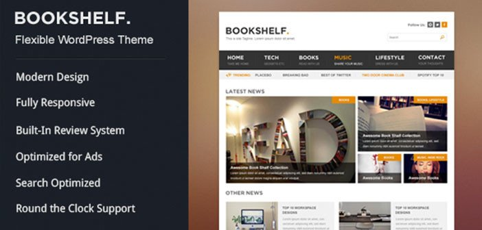 BookShelf – A Beautiful Multipurpose WordPress Blog Theme