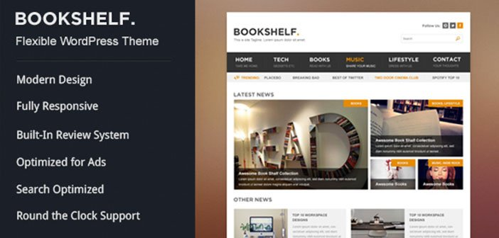 BookShelf – A Beautiful Multipurpose WordPress Blog Theme