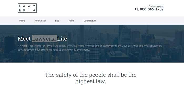 Lawyeria Lite - Free WordPress Theme