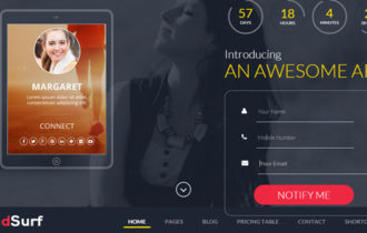 LeadSurf – A Lead Capture Landing Page WordPress Theme