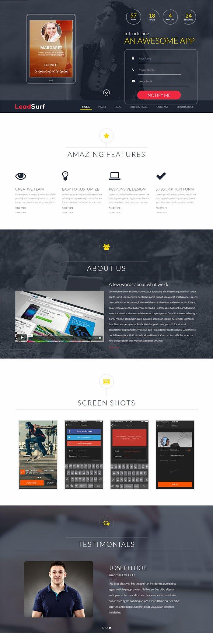 LeadSurf WordPress Theme