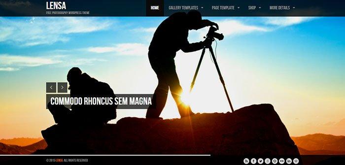Lensa - Photographer WordPress Theme