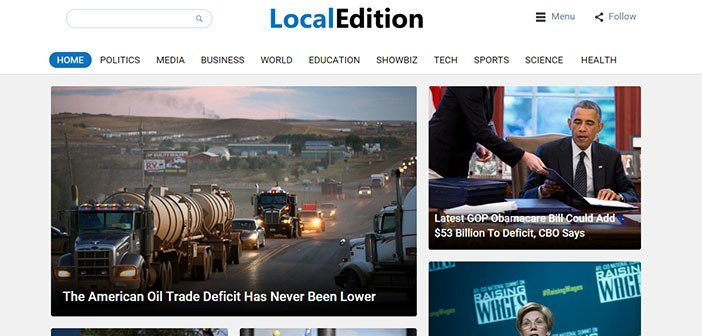 LocalEdition – A Modern News/Magazine WordPress Theme