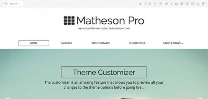 Matheson WordPress Theme