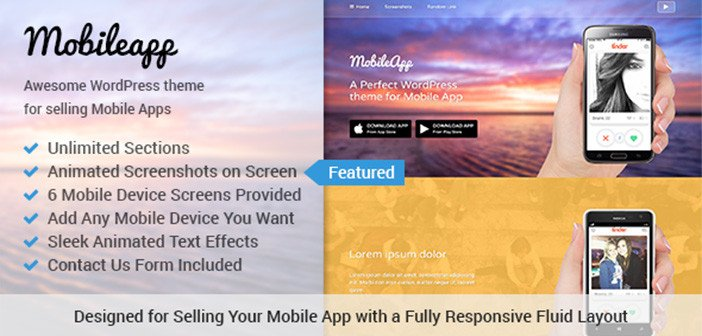 MobileApp – An Awesome Mobile App WordPress Theme
