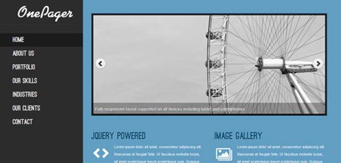 OnePager - Single Page WordPress Theme