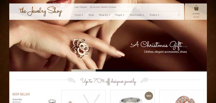 The Jewelry Shop - eCommerce WordPress Theme