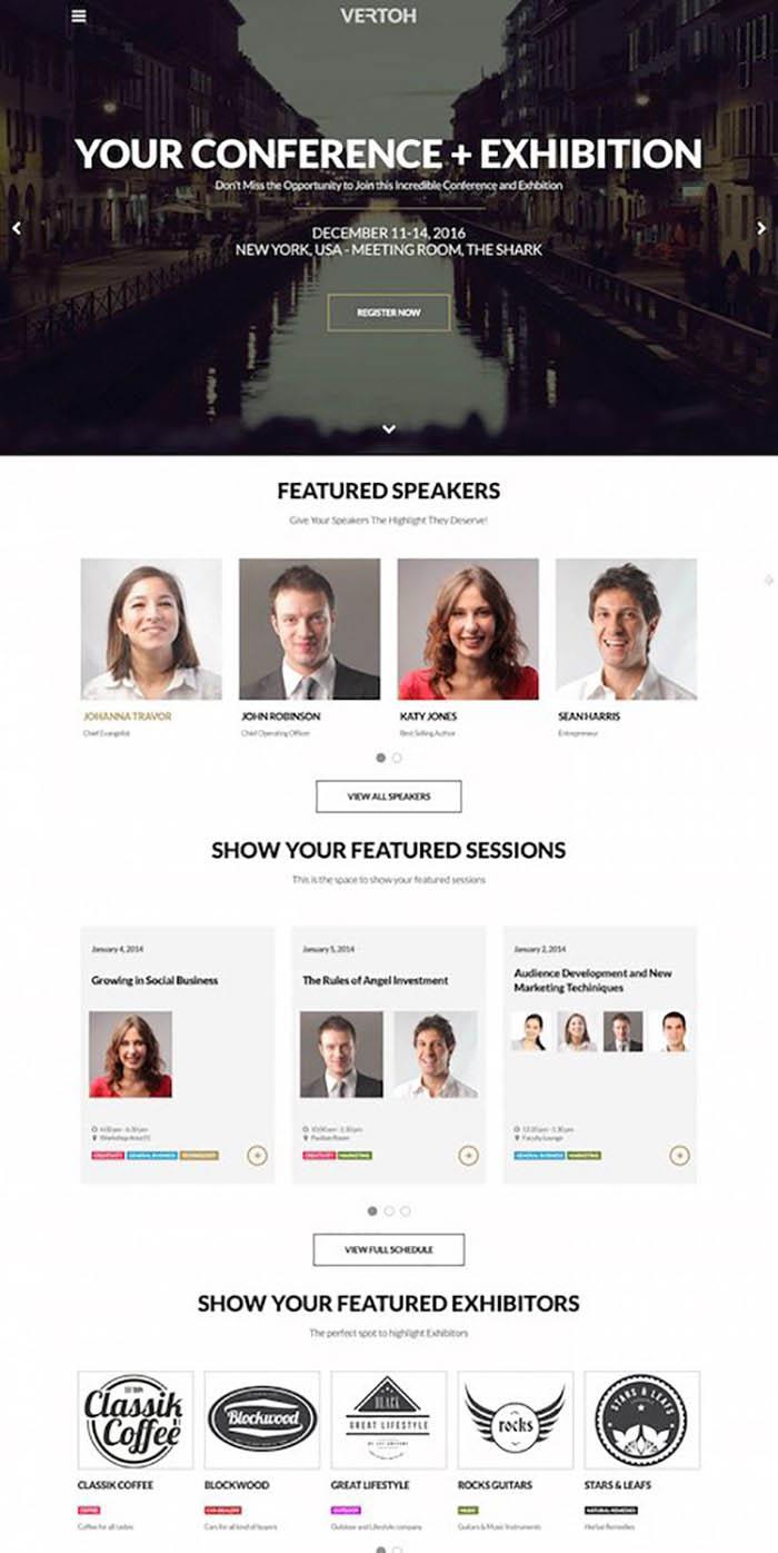 Vertoh Events Management WordPress Theme
