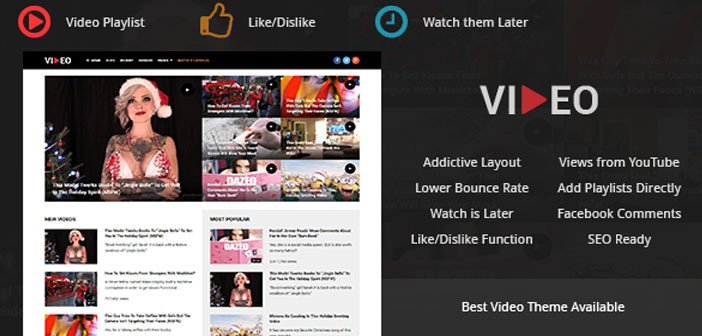 Video – A Best and Addictive Video WordPress Theme