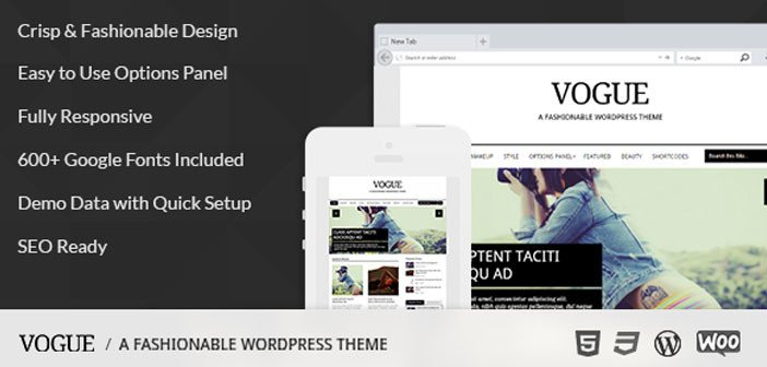 Vogue – A Fashionable & Elegant Blog WordPress Theme