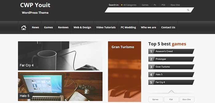 Youit - Gaming WordPress Theme