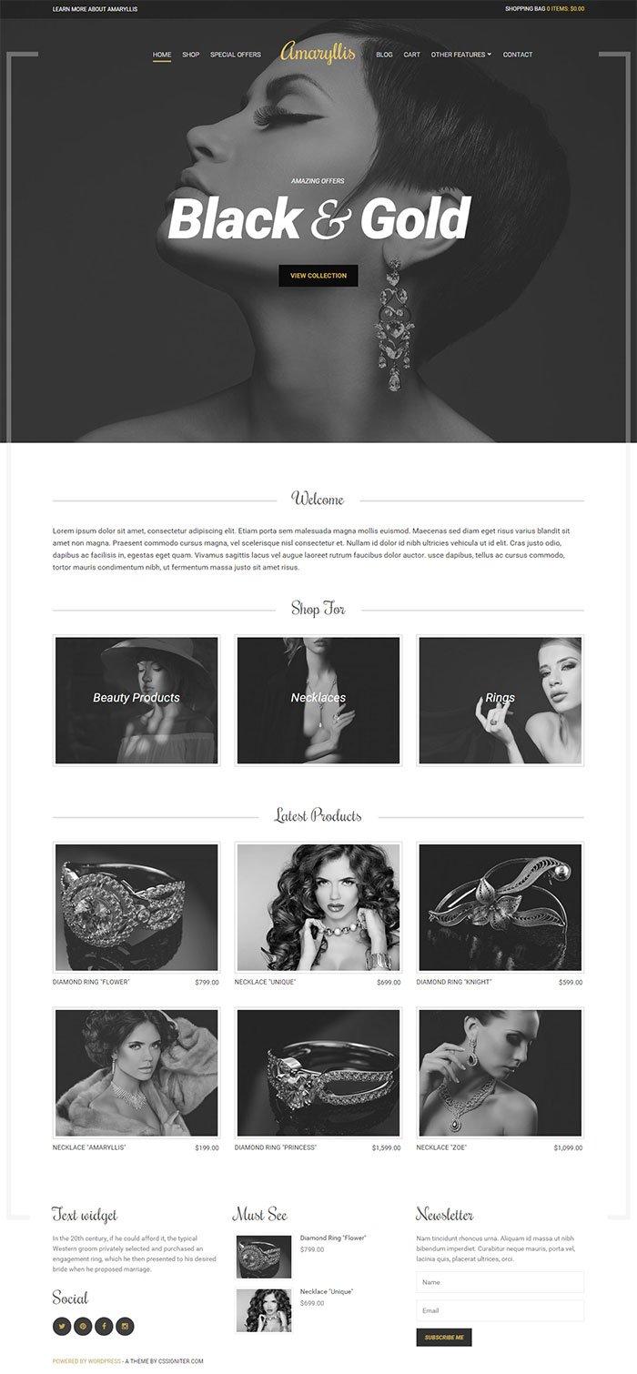 Amaryllis eCommerce WordPress Theme