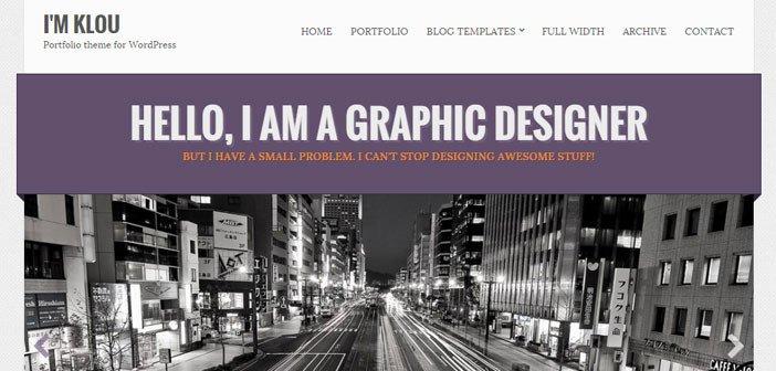 Klou – A Clean and Customizable Portfolio WordPress Theme