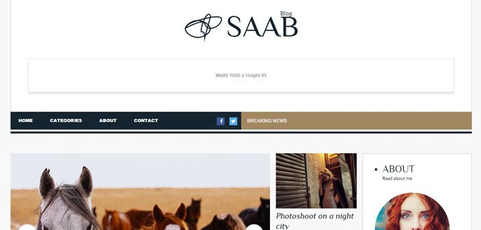 Saab – A Stylish Magazine/Blog WordPress theme