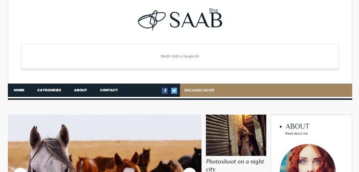 Saab – A Stylish Magazine/Blog WordPress theme