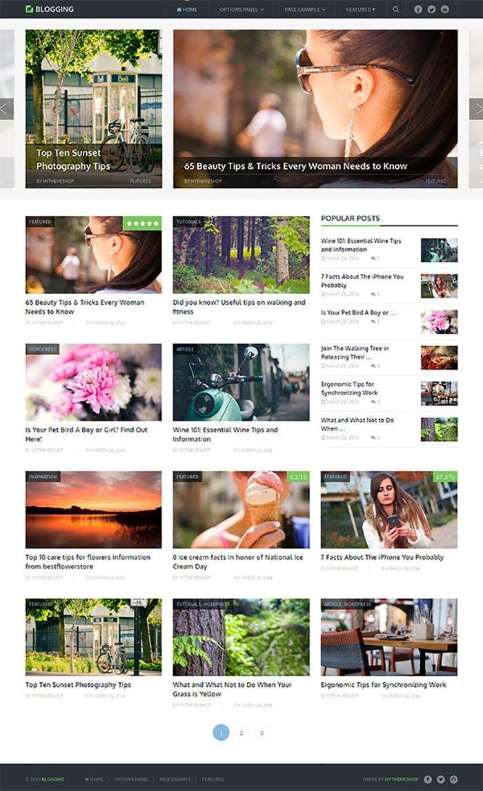 Blogging WordPress Theme Mythemeshop