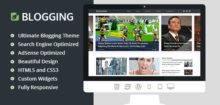 Blogging – Beautiful & Responsive Blog WordPress Theme