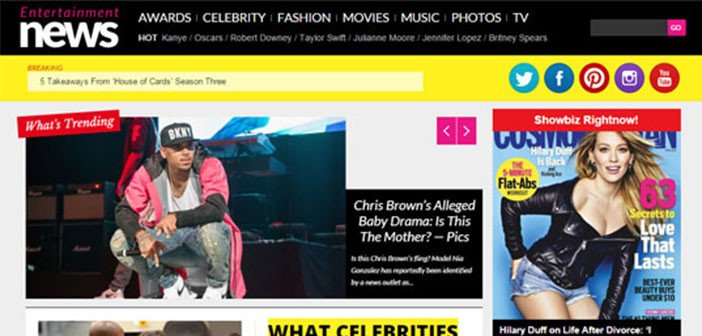 EntertainmentNews – A Celebrity News Portal WordPress Theme