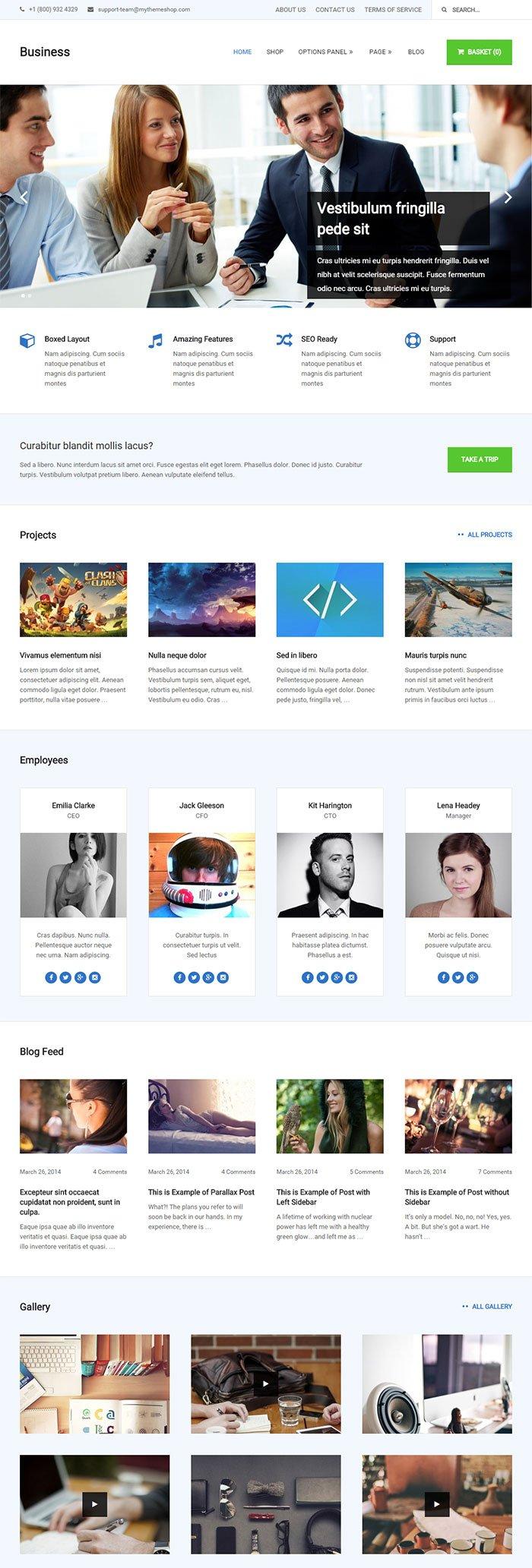 Best Premium WordPress Business Theme