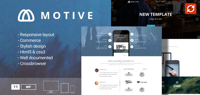 Motive – A Modern and Creative Portfolio WordPress Theme