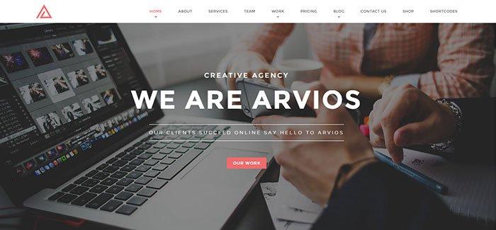 Arvios - One Page WordPress Theme