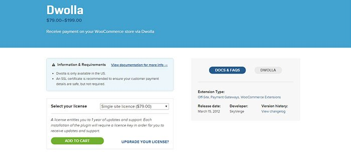 Dwolla Payment Gateway Plugin