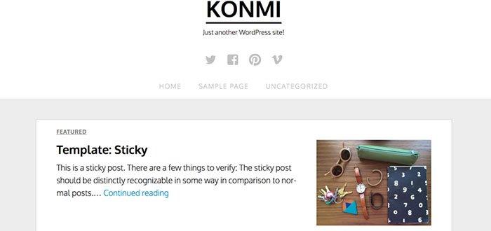 Konmi WordPress Theme