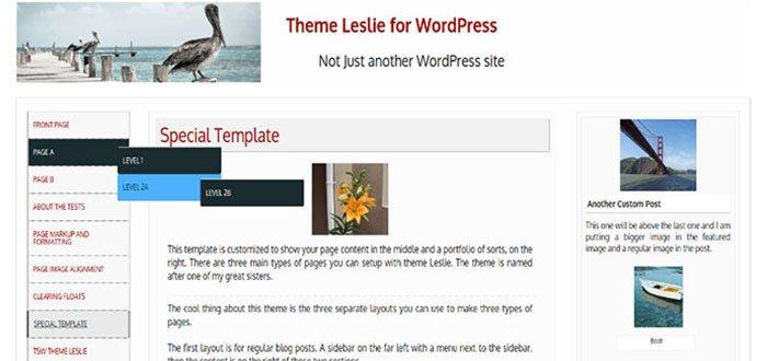 Leslie WordPress Theme
